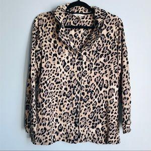 Other - Soma Soft  Button Down Leopard Sleep Shirt Medium